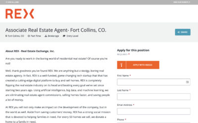 HELP Wanted Ft. Collins, Colorado REX Homes